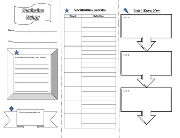 Nonfiction Reading Response Trifold