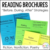 Reading Strategies Trifold Brochures | Fiction, Nonfiction, and Poetry