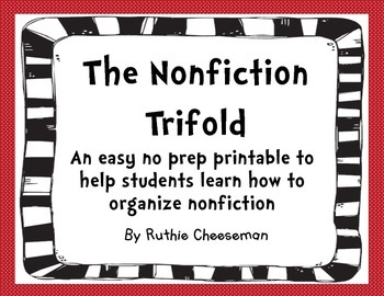 Nonfiction Trifold Graphic Organizer