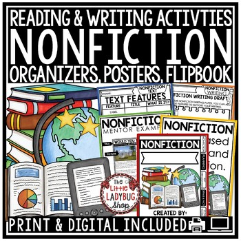 Nonfiction Unit & Reading Informational Text Features- Anchor Charts & More