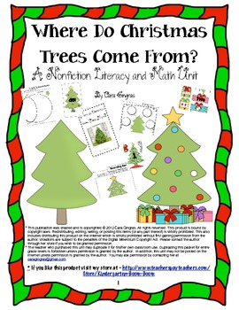 Nonfiction Unit Where Do Christmas Trees Come From