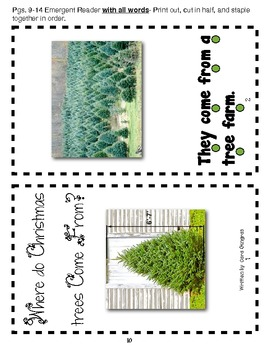 Nonfiction Unit -Where Do Christmas Trees Come From - Common Core