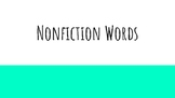 Nonfiction Vocabulary PowerPoint