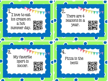 Nonfiction, Vocabulary, and fact/opinion Bundle with QR Codes