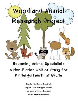 Nonfiction Woodland Animal Research Mini Unit