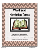 Nonfiction Word Wall Cards