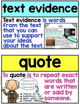 Nonfiction Word Wall ~ 36 Reading Nonfiction Posters or Flashcards