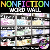 Nonfiction Word Wall: 36 Nonfiction Posters, Nonfiction Text Features Posters