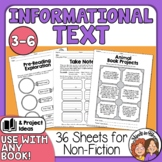 Reading Sheets for Informational Text & Guided Book Reports Print & TpT Digital