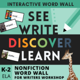 Nonfiction Writers Workshop Toolkit - Visual and Interactive Word Wall