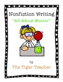 Nonfiction Writing: All About Matter Book Template