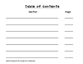 Nonfiction Writing Booklet - Bigger Lines