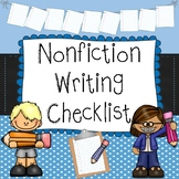 Nonfiction Writing Checklist