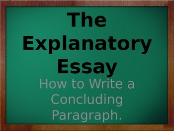 Nonfiction Writing:  How to write a concluding paragraph