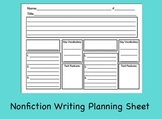 Nonfiction Writing Planning Sheet