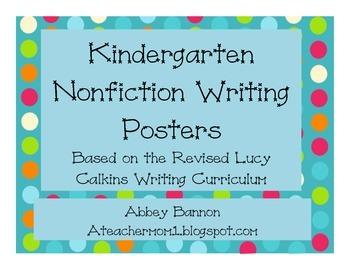 Nonfiction Writing Posters - Kindergarten