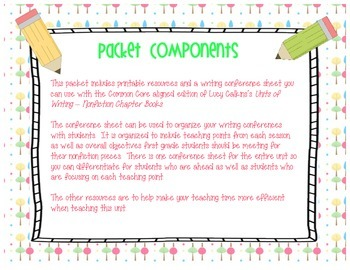 Informational Writing Printables-Conference Organizer--Common Core Edition
