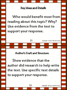 Nonfiction Writing Prompts Requiring Text Details