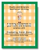 Nonfiction Writing Supplement for Rocks and Minerals Unit