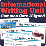 Nonfiction / Informational Writing Unit  (Common Core Aligned)