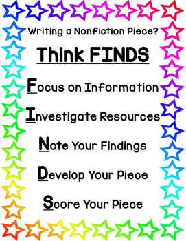 Nonfiction Writing Using FINDS Freebie!