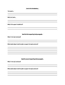 Nonfiction Writing:  Writer's Checklist