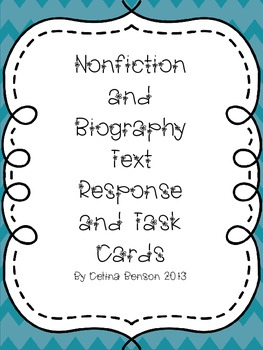 Nonfiction and Biography Response Cards Table Format
