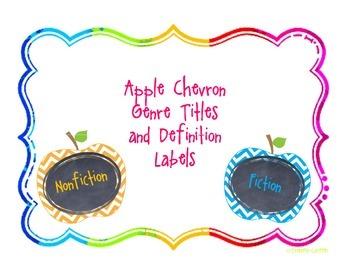 Nonfiction and Fiction  Chevron Genre Labels