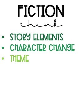 Nonfiction and Fiction Classroom Signs