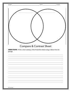 Nonfiction and Fiction Compare and Contrast worksheet!