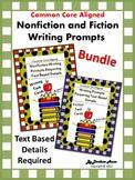 Nonfiction and Fiction: Writing Prompts Requiring Text Details {Bundle}