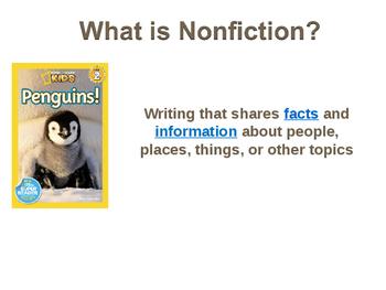 Nonfiction and Nonfiction Text Features Presentation
