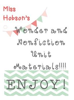 Nonfiction and Wonder Unit Materials