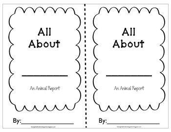 Nonfiction animal report booklet-Nonfiction Writing for lower elementary