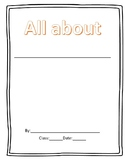 Nonfiction blank booklet for informational text