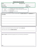 Nonfiction book report form with rubric for scoring