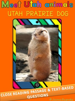 Utah prairie dogs: LEVELED nonfiction, close reading passa