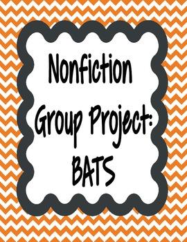 Nonfiction group projects-BATS **FREEBIE** **100% CC