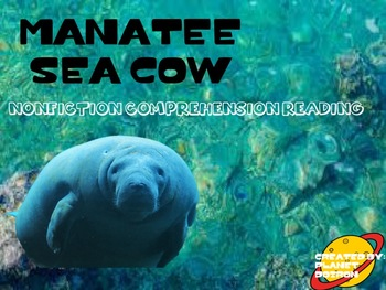 Nonfiction reading passage and comprehension on Manatees