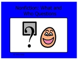 Nonfiction stories and what and who questions