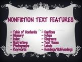 Nonfiction text features list poster