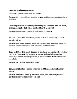 Nonfiction text structures - Soda Themed