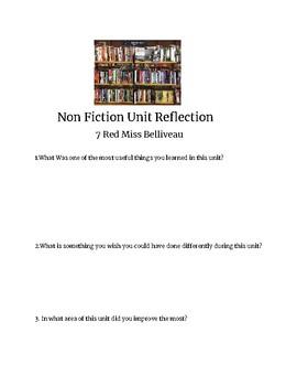Nonfiction unit reflection