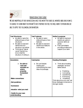 Nonfiction unit study guide