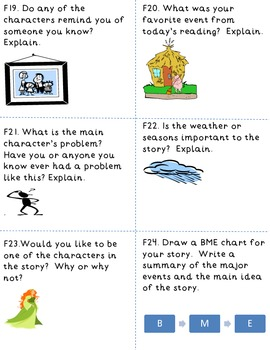 Nonfiction,Biography, and Fiction Task and Response Cards in 2 formats