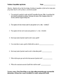 Nonlinear Inequality Application Project