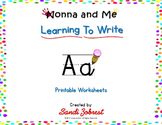 Nonna and Me Learning To Write