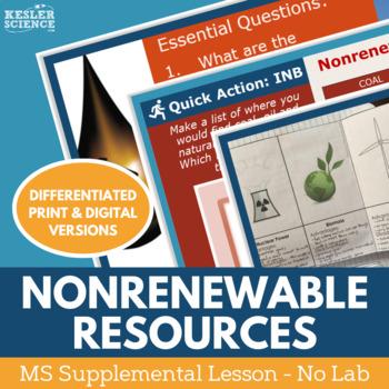Nonrenewable Energy Resources - Supplemental Lesson - No Lab