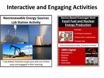 Nonrenewable Energy Sources - 5E Lesson Bundle