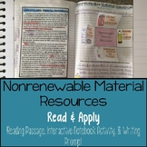 Nonrenewable Material Resources Reading Comprehension Inte